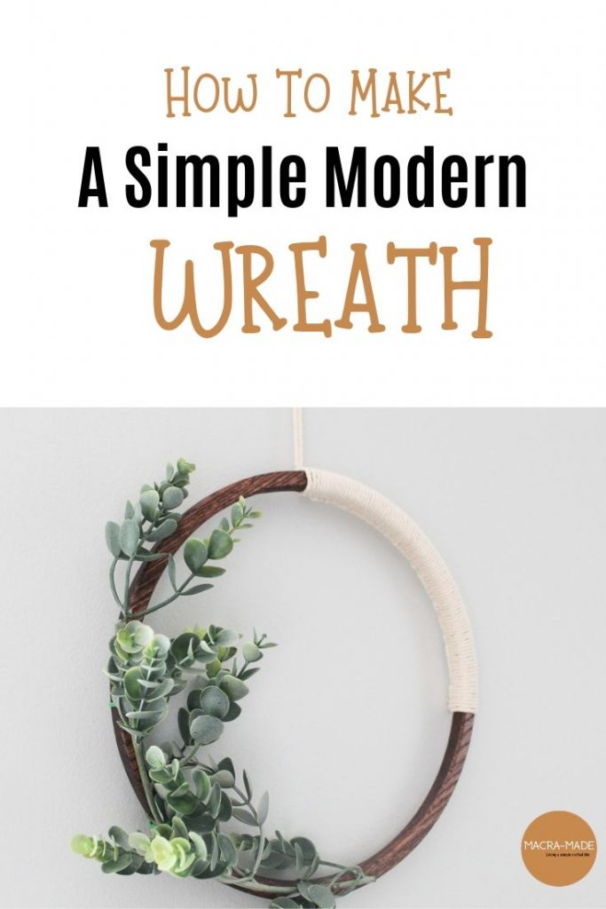 Pinterest image for a simple modern wreath