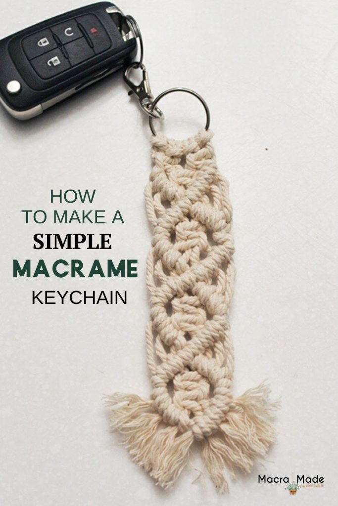 Image to pin to pinterest of keychain with car key