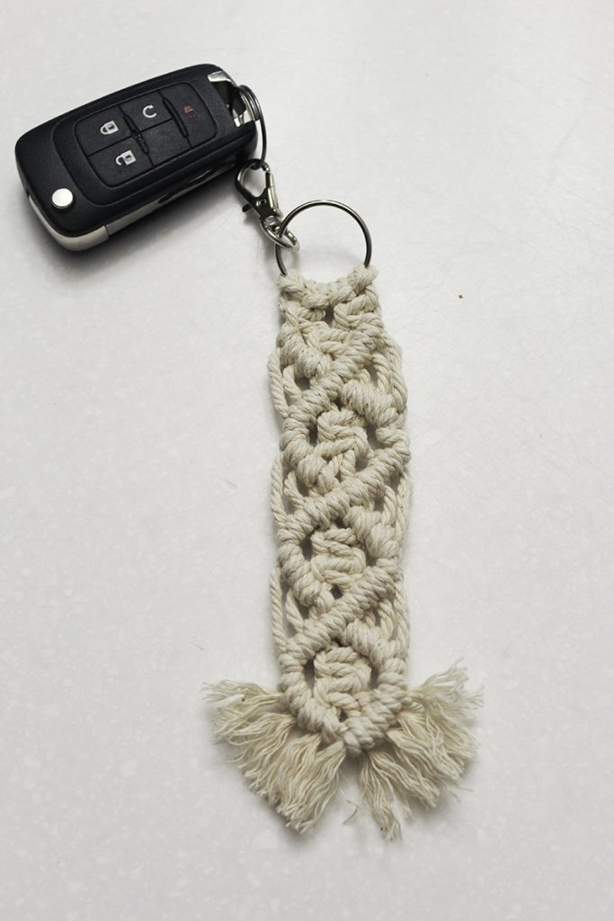 keychain with car key