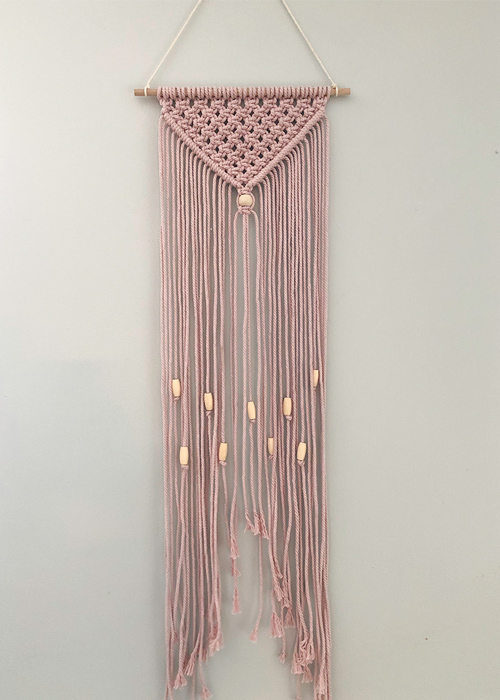 How to Make a Simple Macrame Wall Hanging with Beads