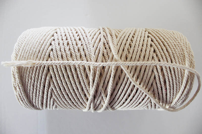 roll of natural macrame string