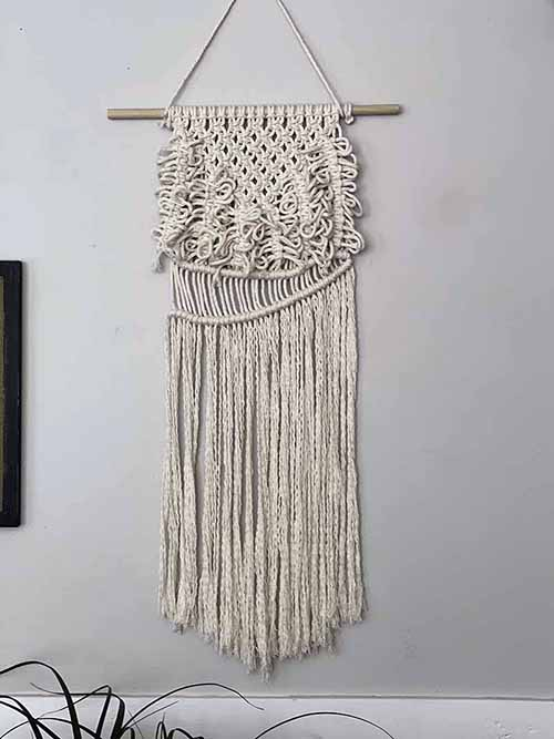 Macrame Wall Hanging with Square Knots